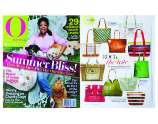 Product Placemenet - Maggie Bags in O, The Oprah Magazine