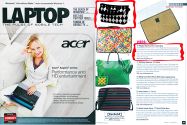Maggie Bags in Laptop Magazine