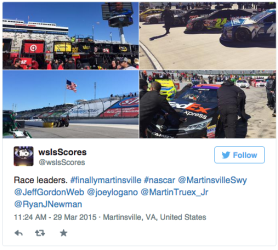 WSLS 10 covers NASCAR at Martinsville.