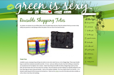 Maggie Bags featured on GreenIsSexy.org  by Rachel McAdams