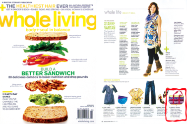 Product Placement - Maggie Bags in Martha Stewart Whole Living Magazine