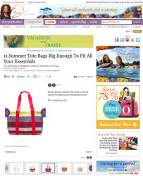 Product Placement - Maggie Bags product post on O, The Oprah Magazine Website