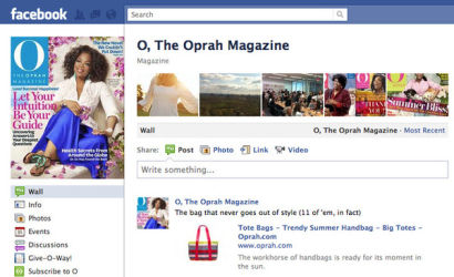 Product Placement - Maggie Bags product post on O, The Oprah Magazine Facebook Page