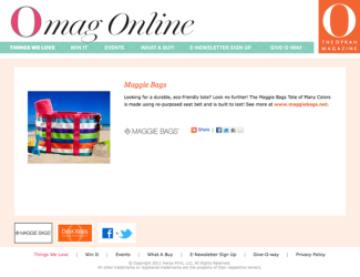 Product Placement - Maggie Bags on OmagOnline.com